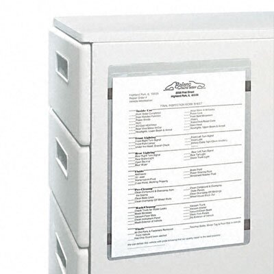 C-Line Products, Inc. Magnetic Shop Ticket Holder, 8 1/2 X 11 (15/Box)