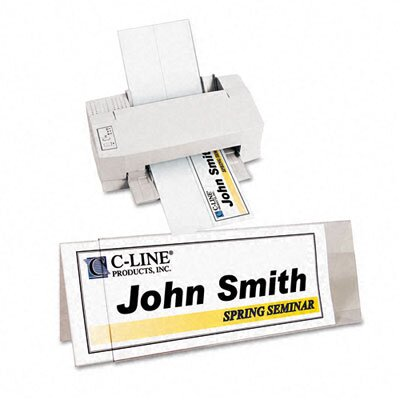 C-Line Products, Inc. Tent Card Holder Rigid Heavyweight (25/Box)