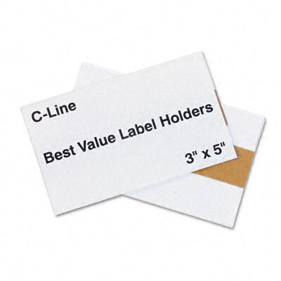 C-Line Products, Inc. Label Holders, 5 X 3 (50/Pack)