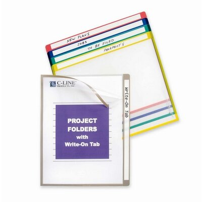 """C-Line Products, Inc. Project Folders, Colored, 11""""x8-1/2"""", 25 per Box, Assorted"""