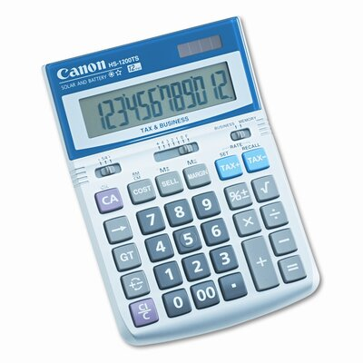 Canon HS-1200TS Compact Desktop Calculator, 12-Digit LCD