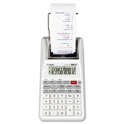 Canon P1-DHVG One-Color 12-Digit Printing Calculator, White