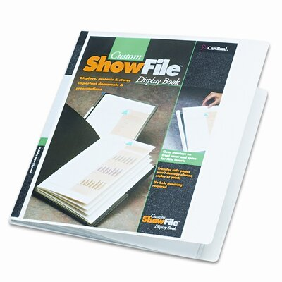 Cardinal Brands, Inc ShowFile Display Book with Custom Cover Pocket , 12 Letter-Size Sleeves, White