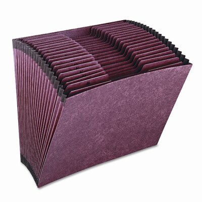 Cardinal Brands, Inc Globe-Weis Accordion Files without Flap, 21 Pockets, 1/3 Tab, Letha Tone, Letter
