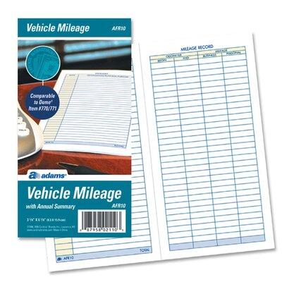 Cardinal Brands, Inc Vehicle Mileage Log, 6 1/4 x 3 1/4, 32 Forms