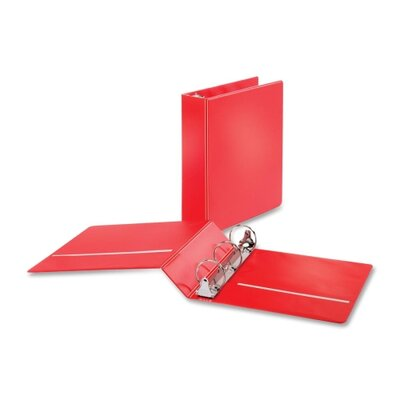 "Cardinal Brands, Inc Non-locking Round-ring Binders, w/ 2 Pockets, 2"" Capacity, Red"