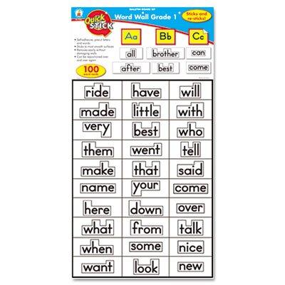 Carson-Dellosa Publishing Quick Stick Word Wall Grade 1 Letters