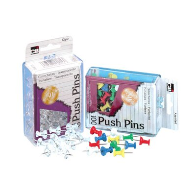 Charles Leonard Co. Push Pins Assorted