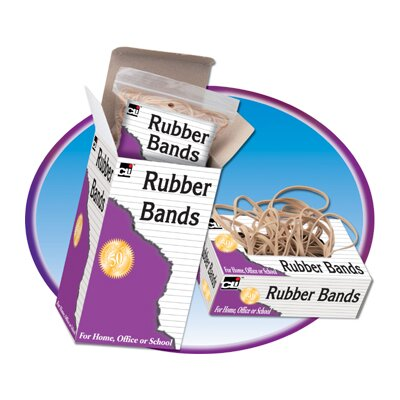 Charles Leonard Co. Rubber Bands 3 1/2 X 1/32 X 1/8 1/4