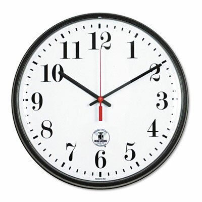 "Chicago Lighthouse For The Blind Atomic Slimline 12.75"" Wall Clock"