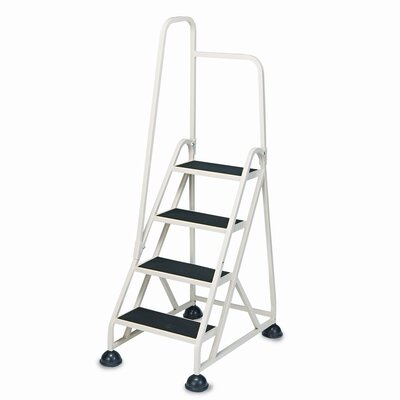 Cramer Industries, Inc. 5.52 ft Aluminum Stop-Step Handrail Step Ladder with 300 lb. Load Capacity