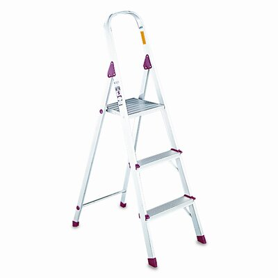DAVIDSON LADDER, INC. Davidson 3-Step Aluminum Louisville Folding Euro Step Stool with 200 lb. Load Capacity