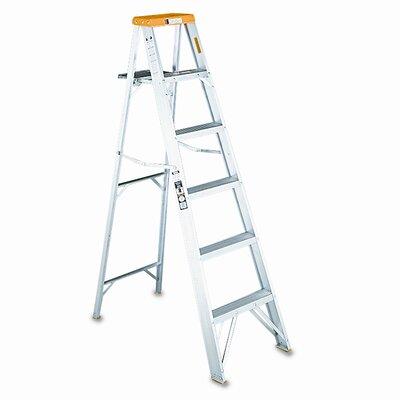 DAVIDSON LADDER, INC. 8 ft Aluminum Louisville Folding Step Ladder with 225 lb. Load Capacity