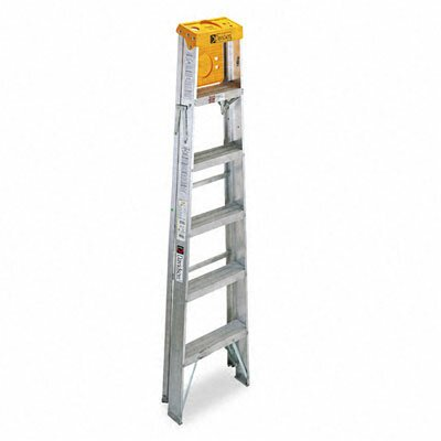 DAVIDSON LADDER, INC. 6 ft Aluminum Louisville Folding Step Ladder with 225 lb. Load Capacity