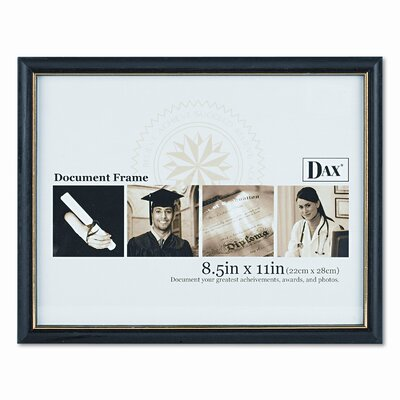 "DAX® Two-Tone Document/Diploma Wood Frame, 8.5"" x 11"""