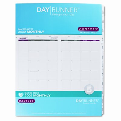 Day Runner Express Monthly Planning Pages Refill, 8-1/2 x 11, 2015