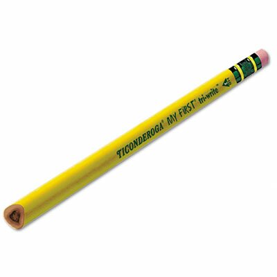 Dixon® My First Tri-Write Woodcase Pencil, HB #2, Yellow Barrel, 36/Box