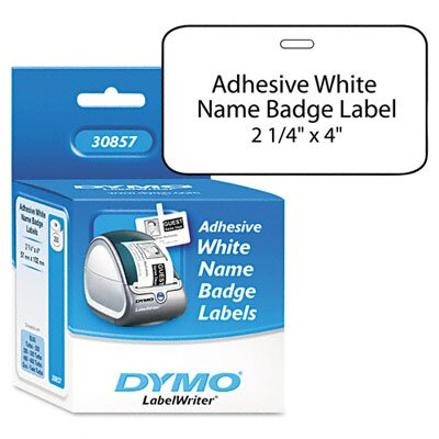 Dymo Corporation Self-Adhesive Name Badge Labels, 250/Box
