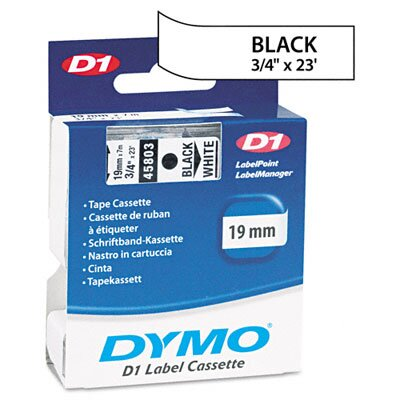 """Dymo Corporation D1 Standard Tape Cartridge for Label Makers, 0.75"""" x 23'"""