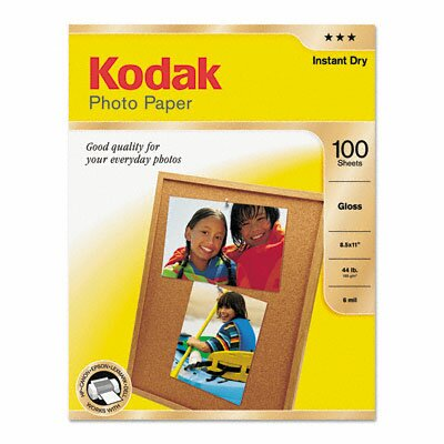 Eastman Kodak Photo Paper, 6.5 Mil, 8-1/2 X 11, 100 Sheets/Pack