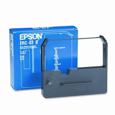Epson America Inc. ERC03B Cash Register Ribbon, Fabric, 6M Yield, Black