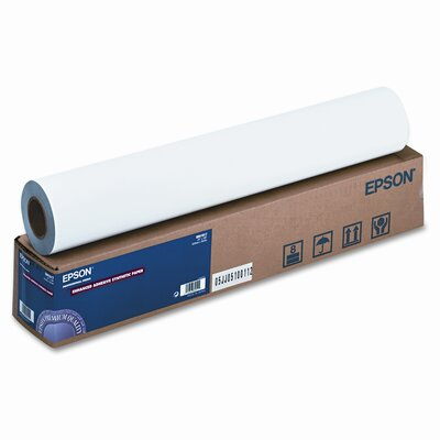 """Epson America Inc. Enhanced Adhesive Synthetic Paper, 135g, 24""""w, 100'l, White, Roll"""
