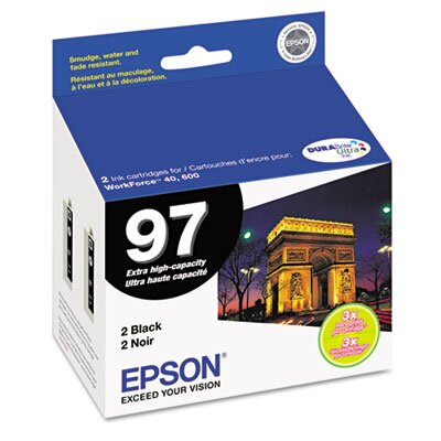 Epson America Inc. T097120D2 (97) Extra High-Yield Ink, 2/Pack