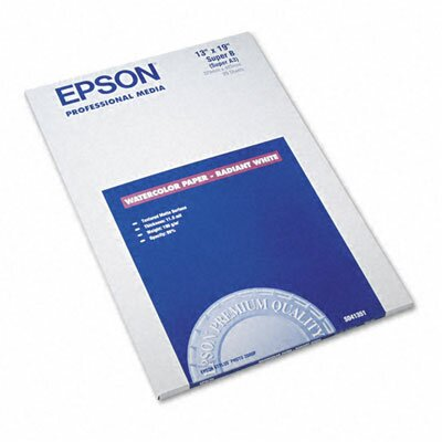 Epson America Inc. S041351 Watercolor Radiant Inkjet Paper, 20/Pack
