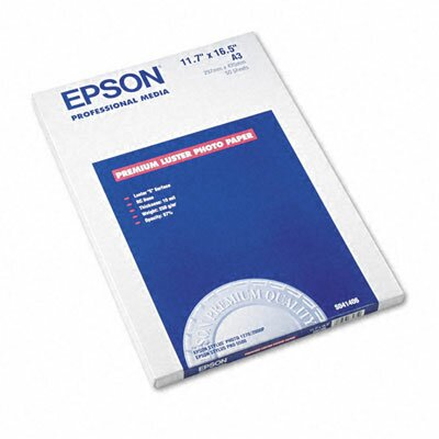"""Epson America Inc. S041406 Ultra Premium Luster Photo Paper, 11.75"""" x 16.5"""", 50 Sheets/Pack"""