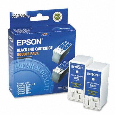 Epson America Inc. T003012 (T003011) Inkjet Cartridge, 2/Pack, Black