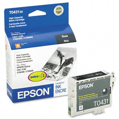 Epson America Inc. T043120 Durabrite High-Yield Ink, 950 Page-Yield