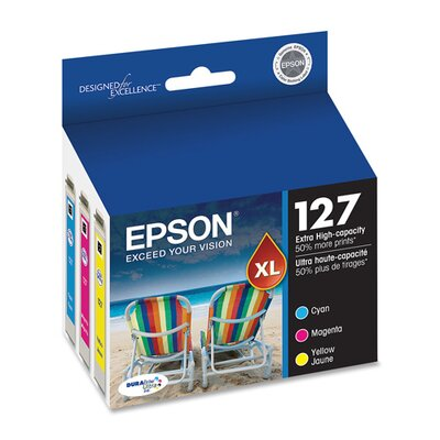 Epson America Inc. T127520 (127) Extra High-Yield Ink, 3/Pack