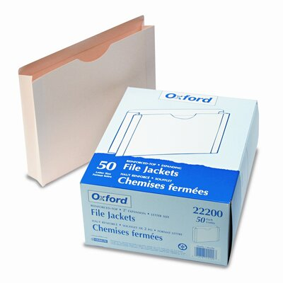 """Esselte Pendaflex Corporation Double-Ply Tabbed File Jacket with Two"""" Expansion, Letter, 50/Box"""