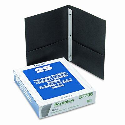"Esselte Pendaflex Corporation Oxford Paper Twin-Pocket Portfolio, Tang Clips, Letter, 1/2"" Capacity, 25/Box"
