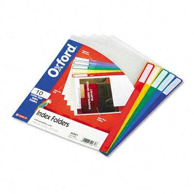 Esselte Pendaflex Corporation Clear Poly Index Folders, Letter, 10/Pack