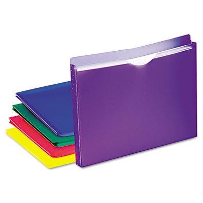 Esselte Pendaflex Corporation Expanding File Jackets, Letter, Poly, 10/Pack
