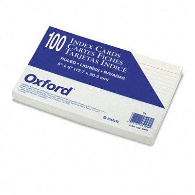 Esselte Pendaflex Corporation Ruled Index Cards, 5 x 8, White, 100 per Pack