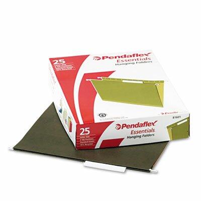 Esselte Pendaflex Corporation Essentials Hanging File Folders, 1/5 Tab, Letter, 25/Box