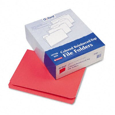 Esselte Pendaflex Corporation Two-Ply Reinforced File Folders, Straight Cut, Top Tab, Letter, 100/Box