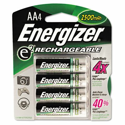 Energizer® E2 Nimh Rechargeable Batteries, Aa, 4 Batteries/Pack