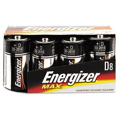 Energizer® Max Alkaline Batteries, D, 8 Batteries/Pack