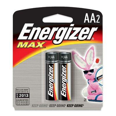 Energizer® Max Alkaline Batteries, Aa, 2 Batteries/Pack
