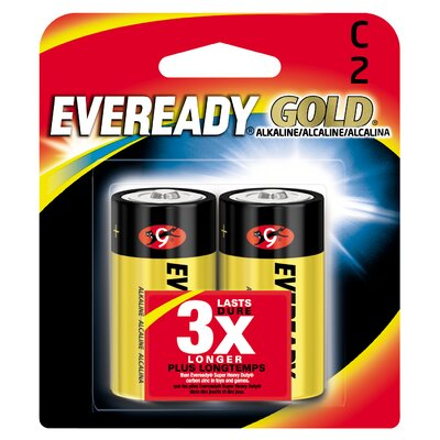 Energizer® C Cell Alkaline Battery (2 Pack)