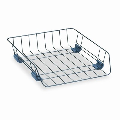 Fellowes Mfg. Co. Workstation Letter Front Load Desk Tray, Wire