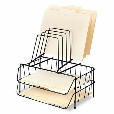 Fellowes Mfg. Co. Double Tray with Step File, Eight Sections, Wire