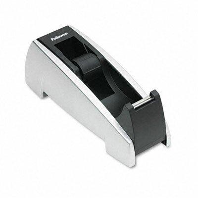 "Fellowes Mfg. Co. Office Suites Desktop Tape Dispenser, 1"" Core, Plastic, Heavy Base"