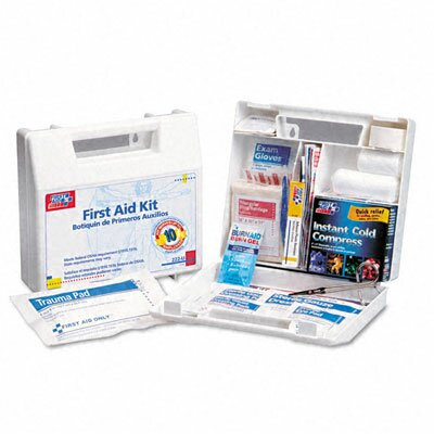 First Aid Only™ First Aid Kit for 10 People, 62 Pieces, Osha Compliant, Plastic Case