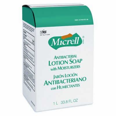GOJO Industries MICRELL NXT Antibacterial Lotion Soap Refill - 1000 ml / 8 per Carton