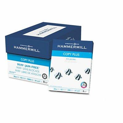 Hammermill Copy Plus Copy Paper, 92 Brightness, 20Lb, 5000 Sheets/Carton