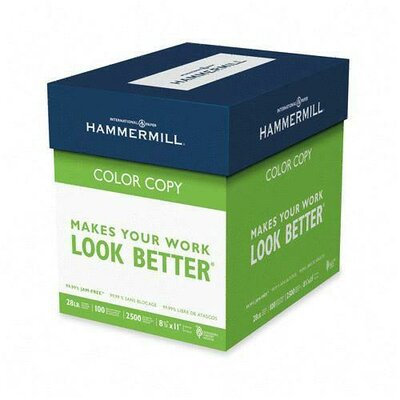 Hammermill Color Copy, 28 lbs, Letter,100 GE/114 ISO, 5 Reams of 500 Sheets  Paper